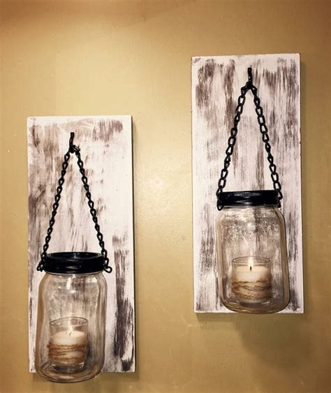 shabby chic candle wall sconces hillbilly jar sconces rustic wall sconces shabby chic