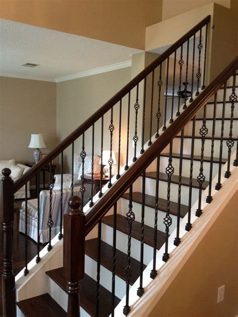 Iron Banister Rails by Best 25 Wrought Iron Stairs Ideas On Wrought