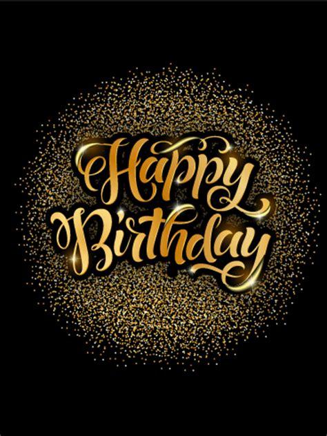 Golden Lights Happy Birthday Card   Birthday & Greeting Cards by Davia