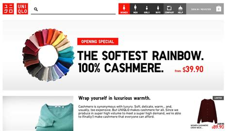 Uniqlo Launches Its E Commerce Site by Japanese Clothing Uniqlo Launches Store For