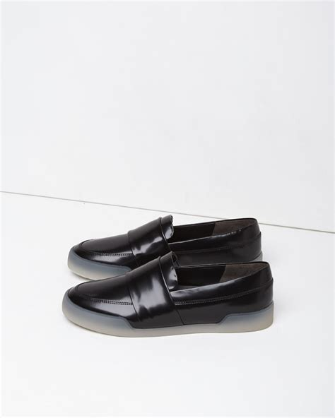 philip lim loafers lyst 3 1 phillip lim leather loafer sneakers in black