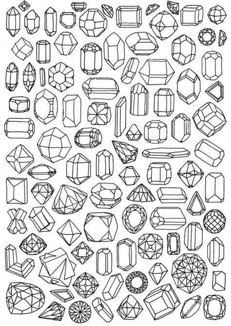 printable jewel shapes fabric paper glue let s embroider some sh t diy