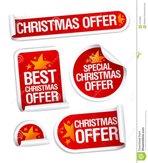best free offers best offers stickers stock vector image 21918385