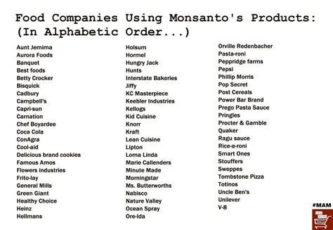 food brands list gmo food brands list health