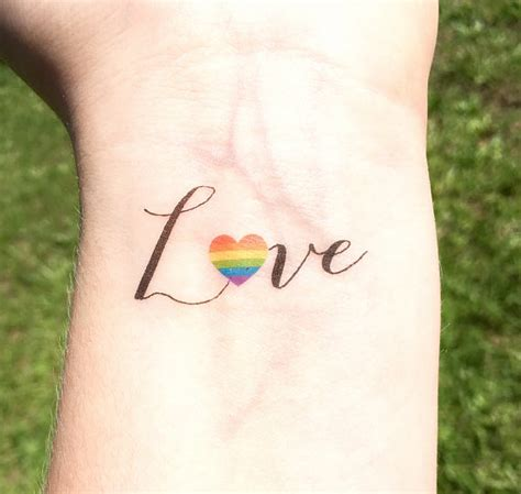 lesbian couple tattoos pride temporary wedding gift is