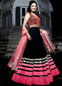 pink colour combination dresses black pink color combination long short embroidered anarkali dresses suitanarkali in