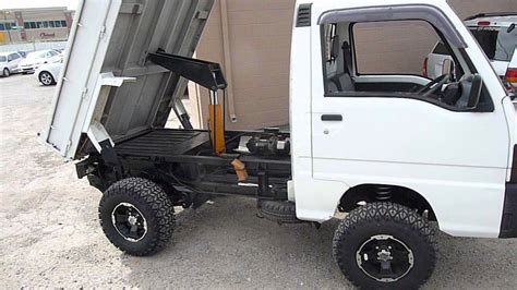 subaru mini truck subaru mini truck with heavy duty dump youtube
