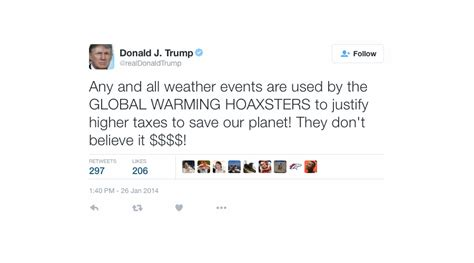 donald trump on climate change donald trump denies saying climate change is a chinese