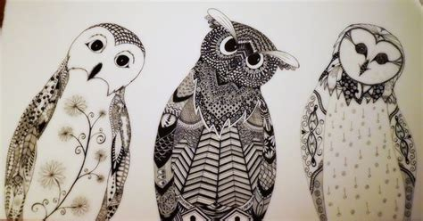 Tri Owl three owls zentangle tri owls owl and zentangles