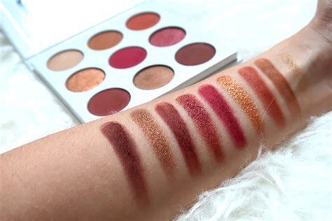 Cosmetics Burgundy Palette review swatches cosmetics the burgundy palette