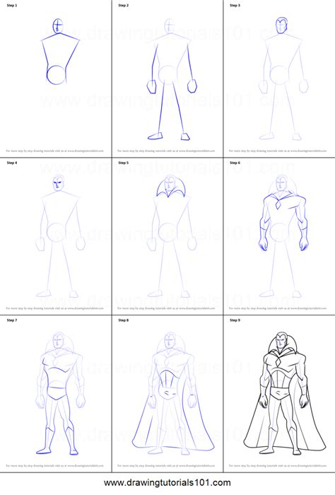 printable heroes tutorial how to draw vision from the avengers earth s mightiest