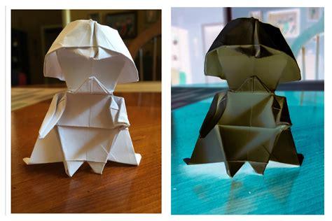 Origami Darth Vader - how to make an origami darth vader bored panda