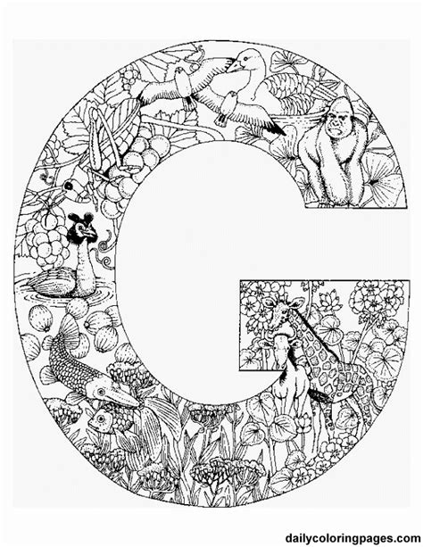 printable mandala letters complicated coloring pages for adults coloring home
