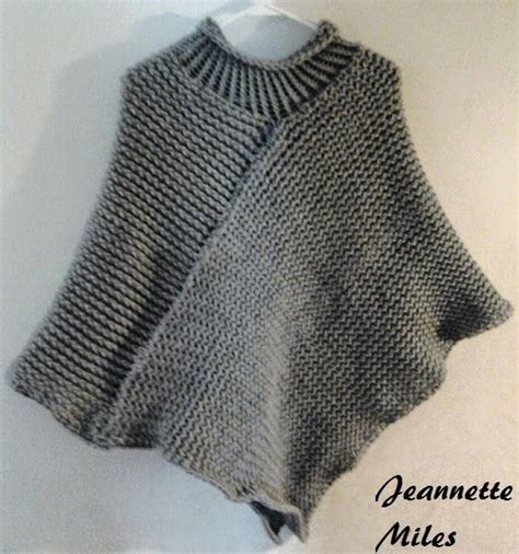 knitted collar pattern the knifty knitter poncho with collar loom knitting