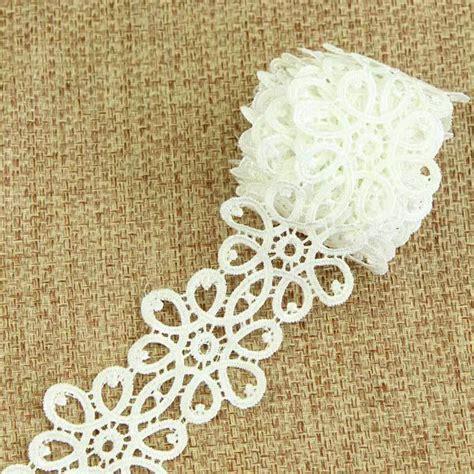 Putih Bordir List White Embroidery Fr5731 3 yards jahit katun renda memangkas gaun pengantin bordir pita putih renda s10919 di tali