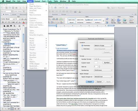 format footnotes word mac inls161 002 spring 2016 information tools using markup