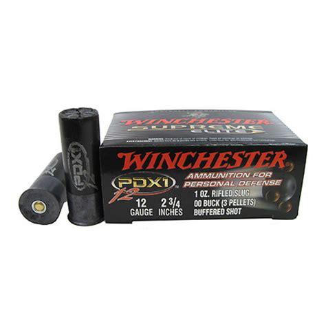 winchester ammo 12ga 2 3 4 quot pdx1 slug 00 buck 10 s12pdx1