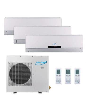 9 9 9k air con tri zone ductless mini split air conditioner heat 208 230v 16 seer dc inverter