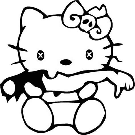 hello kitty zombie coloring page hello kitty zombie halloween coloring pages