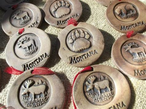 handmade montana christmas ornaments picture of back