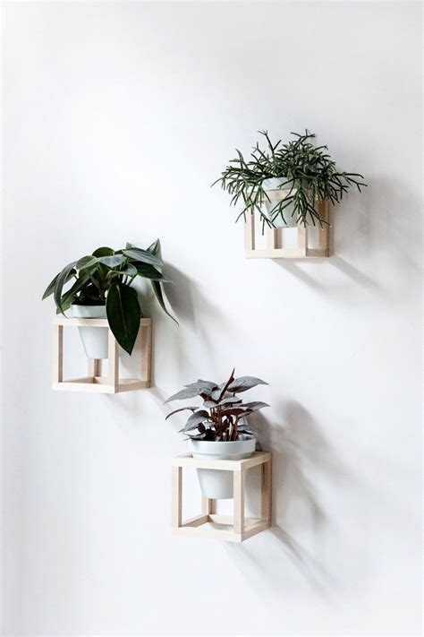 planters that hang on the wall cube wall planters d e c o r pinterest planters