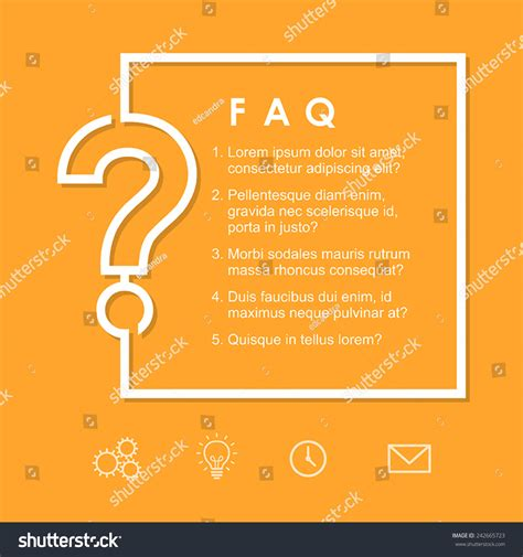 Html Question Layout Must Contain A Question | faq question sign on yellow background stock vector