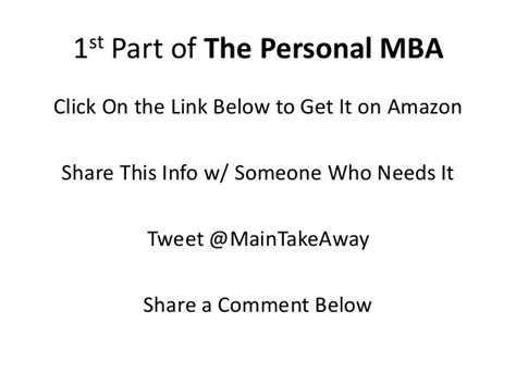 Orbitz Mba Product Manager by Personal Mba Takeaway Pt 1 By Josh Kaufman