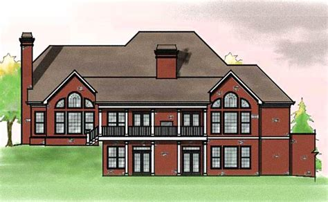 traditional brick house plans large southern brick house plan by max fulbright designs