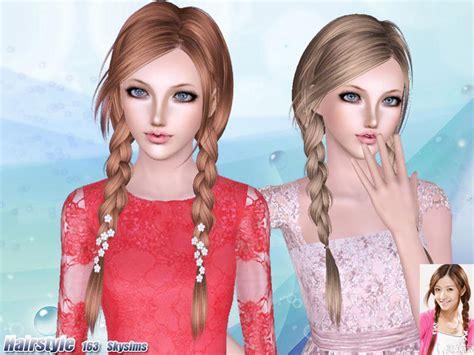 the sims resource hair sims 3 skysims hair 163