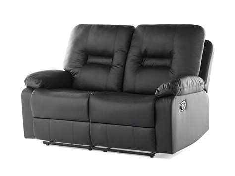 divano recliner divano recliner 2 posti in pelle sintetica nera bergen