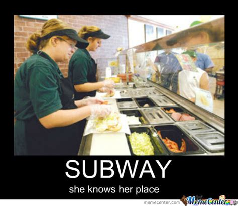 Subway Sandwich Meme - subway by recyclebin meme center