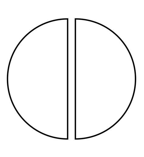 visio semicircle image gallery circle halves