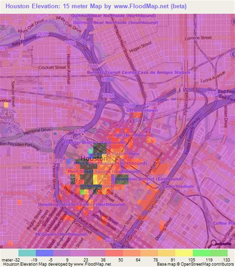 houston tx elevation map elevation of houston us elevation map topography contour