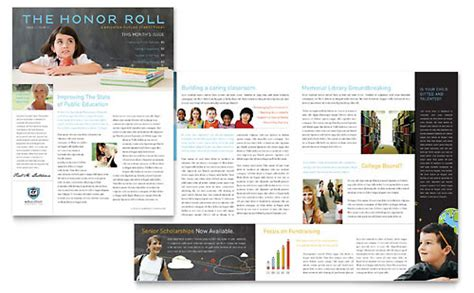 layout for school newsletter education foundation school newsletter template design