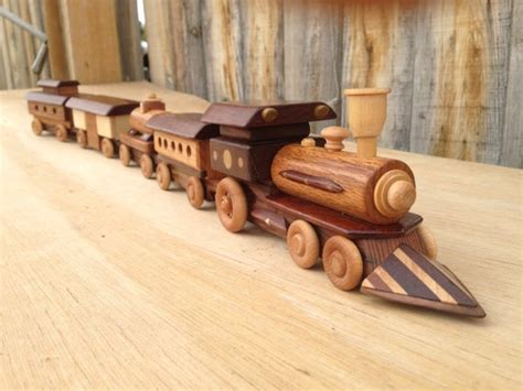 wooden toy train  locomotive steam engine  pcset