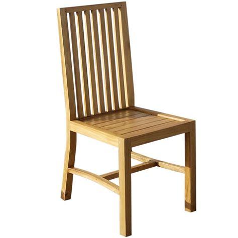 chaise en teck chaise en teck brut aux lignes 233 pur 233 e origin s meubles