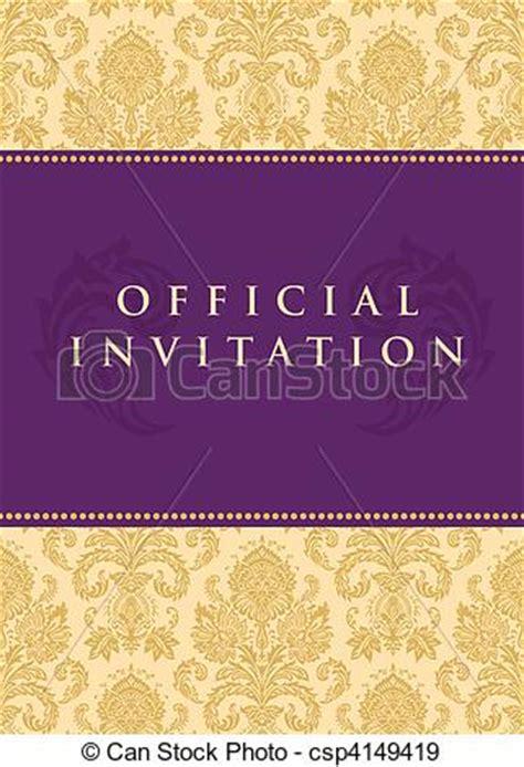 Muster Einladung Offiziell Eps Vektoren Vektor Offiziell Einladung Hintergrund Vektor Deluxe Csp4149419