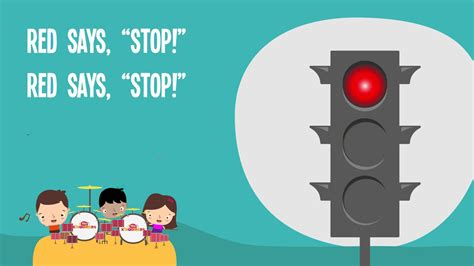security lyrics stop light observations red says stop kids song traffic safety nursery rhymes
