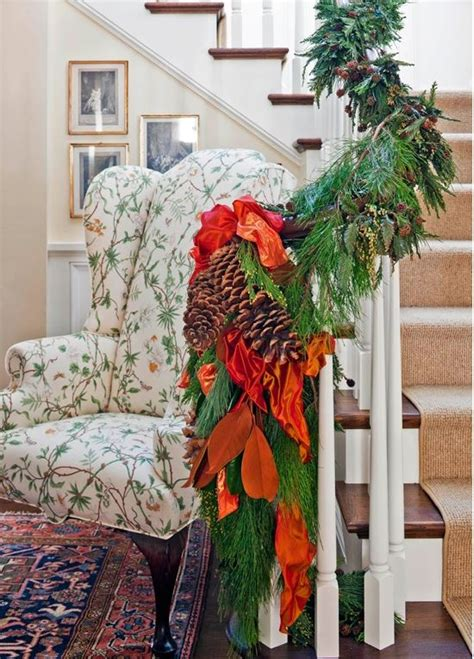 christmas banister garland 12 beautiful christmas banisters
