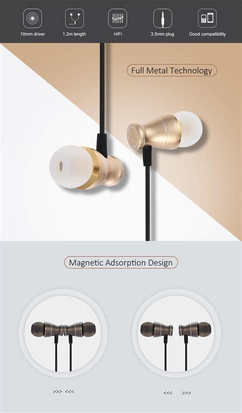 3 5 Mm In Ear Headphones Gold generic en31 3 5mm stereo earphones in ear