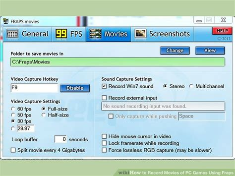 fraps movies full version how to record movies of pc games using fraps 5 steps