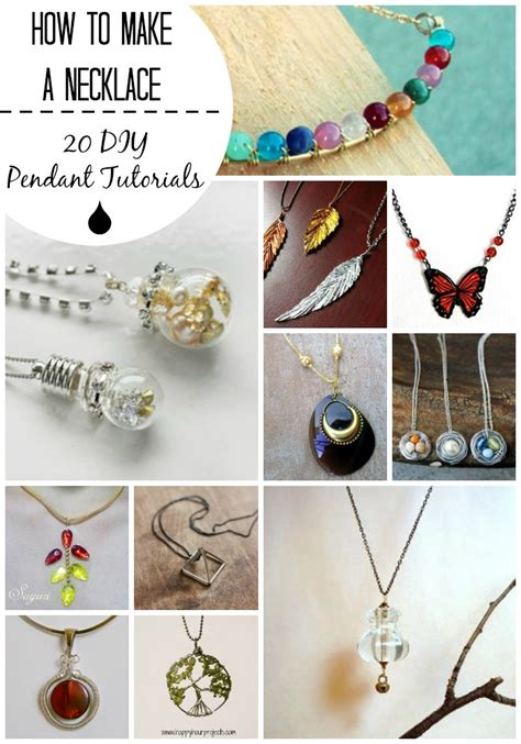 how do you make jewelry how to make a necklace 20 diy pendant tutorials you can