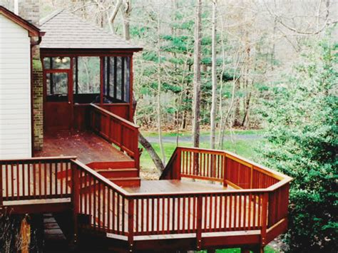 cedar deck and screened porch rustic deck other by land art design inc