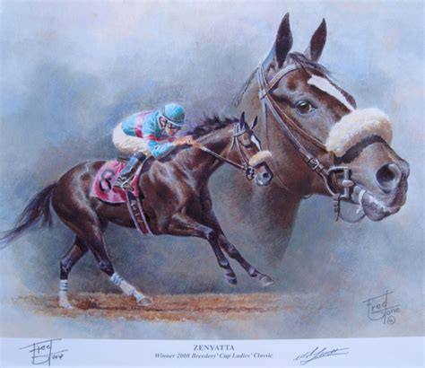 zenyatta print limited edition racing print by
