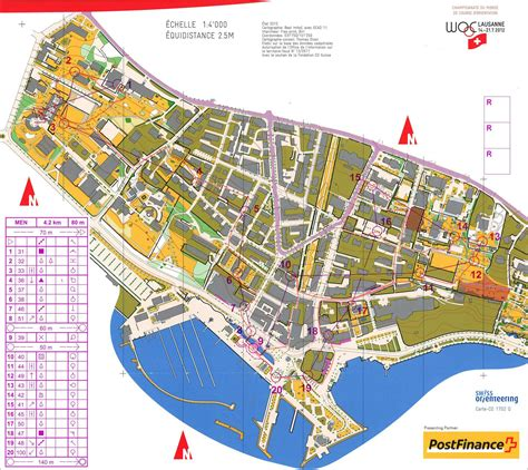 lausanne map my digital orienteering map archive woc sprint