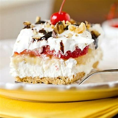 No Bake Banana Split Cake No Bake Banana Split Cake Recipe