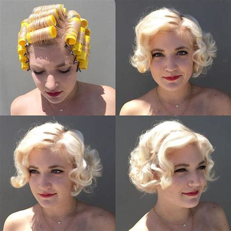 short roller set hair styles roller set rollers and vintage on pinterest