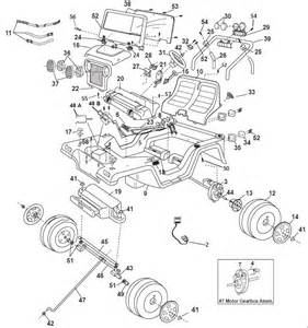Jeep Wrangler Part Numbers Power Wheels Jeep Wrangler 2000 Parts