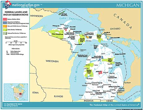 michigan state land map printable maps federal lands