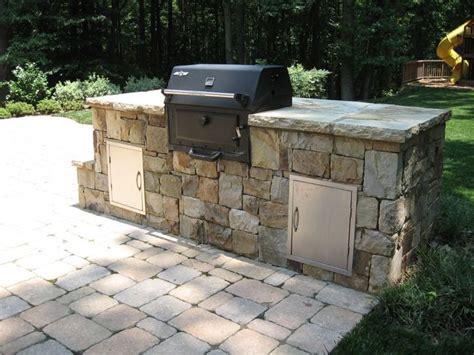 diy backyard grill landscape blocks for bbq island diy projects pinterest